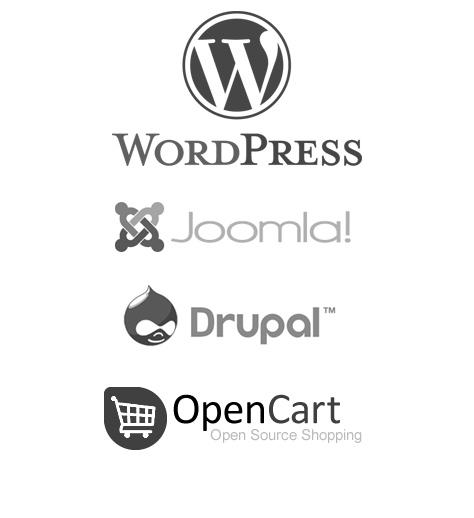 Wordpress Joomla Drupal Opencart