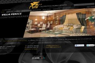 Sito web per il gruppo MAV - Mobili Artigianali Veneti